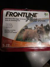 Frontline Plus For Dogs Small Dog 5-22 pounds (3-Dose Flea & Tick Treatment) New