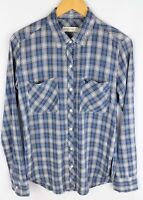 Abercrombie & Fitch Women Casual Shirt Blue Check Cotton Blend size S