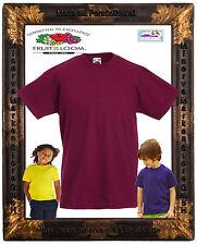 Kinder T-Shirt Unifarben Baumwolle Basic 18 Farben 92 98 104 116 128 140 152 164