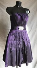 Cinderella Party Prom Evening Cocktail Dress Small Fitted Purple Lavender Violet
