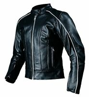New AGVSPORT LOTUS Ladies Women's Leather Motorcycle Jacket Black CE Armour