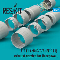 F-111 A/B/C/D/E (EF-111) exhaust nozzles for Hasegawa KIT 1/72 ResKit RS72-0028