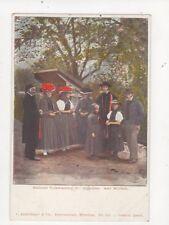 Badische Volkstrachten Gutachter Wolfach Vintage U/B Postcard Germany 395a