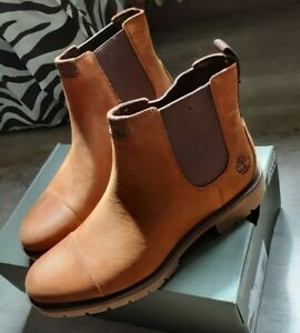 Timberland Stiefel Boots Elmhurst Chelsea MD brown full grain