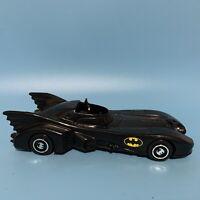 "Vintage 1989 Black Plastic 7"" Batmobile w Batman Mini Figure"