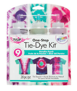 Tulip Tie Dye Kit Paradise Punch 28 Pieces Purple Fuchsia Pink Teal