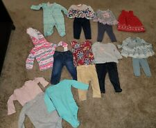 14 Piece Lot Of Baby Girl Fall/Winter Clothes Size 12 Months
