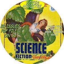 SCIENCE FICTION QUARTERLY VINTAGE MAGAZINE, COMIC BOOK - 39 ISSUES - PDF - DVD
