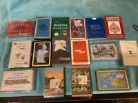 VINTAGE PLAYING CARDS DECK LOT OF 16 TRAVEL  ADVERTISING DECKS NEW & USED
