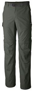 Columbia Men's Silver Ridge Convertible Pant 30Wx32L- Gravel Color