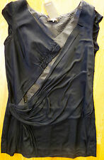 New NWT $1,350 Vera Wang size US 10 EU 44 Draped Lined Top with side zip