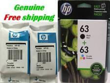 HP 63 Black/Color-Original Ink Cartridge Combo for HP3636 HP3634 HP3632 Printer