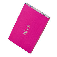 Bipra 200gb 2.5 Inch USB 2.0 Fat32 Portable Slim External Hard Drive - Pink