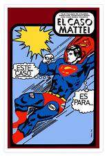 Cuban movie Poster.SUPERMAN.italian art film.Rare Comic.Collectable Graphic