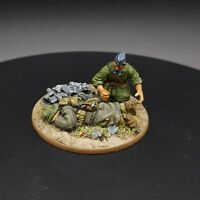 Well Painted 28mm Bolt Action Casualty And Medic Ww2 Warlord Games