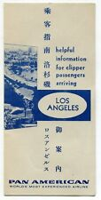 "1959 Pan Am Brochure: ""Helpful Info For Clipper Passengers Arriving"" [In L.A.]"
