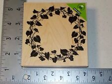 HERO ARTS #S5490 IVY WREATH WOOD MOUNT RUBBER STAMP NEW A1455