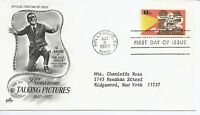 US Scott #1727, First Day Cover 10/6/77 Hollywood Single Talking Pictures