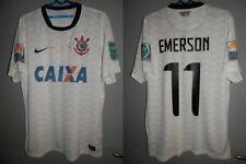 MATCH WORN SHIRT CORINTHIANS PAULISTA BRAZIL FIFA JAPAN 2012 EMERSON JERSEY