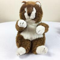 "A36 Vintage Fiesta Fat Fluffy Sleepy Tabby Cat Plush 11"" Stuffed Toy Lovey"