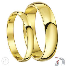 9ct Yellow Gold His & Hers D Shape Wedding rings 3&5mm