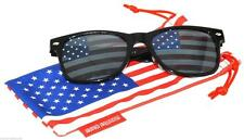 New listing Us American Flag Lens Retro Sunglasses Glasses Us Patriotic 4th of July Black