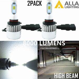 Alla Lighting 8000lm 9005 HB3 hi   Beam Bulb White LED hd-light  upgrade  Kits