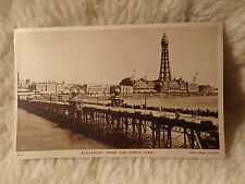 @ POSTCARD - BLACKPOOL FROM THE NORTH PIER - BLACKPOOL - LANCASHIRE (B)