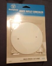 "Outlet Concealer White holes spaced 2 3/4"" apart"