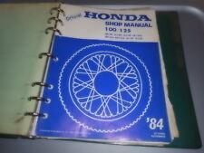Honda CB100 CL100 SL100 CB125 CD125 SL125 TL125 Shop Service Manual / Binder