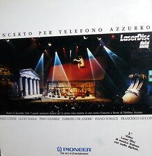 DE ANDRE' DALLA DANIELE GUCCINI LP LASER DISC 1990 CONCERTO PER TELEFONO AZZURRO