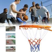 32cm Wall Mounted Basketball Hoop Outdoor Rim Netting Metal Hanging Goal 4 Rim