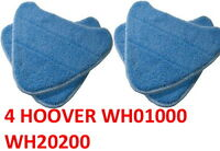 4 Washable Hoover Steam Mop Pads Designed To Fit WH20200 Steam Mop # WH01000