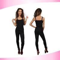 Womens New Plain Sleeveless Ladies Stretch  Strappy Cami Vest Tank Top S M L