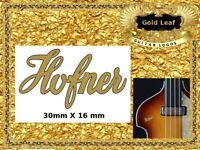 Hofner Guitar Headstock Decal Restoration Waterslide 147g
