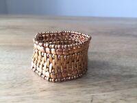 Philippe Audibert Bollywood-inspired gold-plated elasticated beaded bracelet New