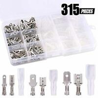 315Pcs 2.8/4.8/6.3mm Male Female Spade Connectors Wire Crimp Terminal NEW