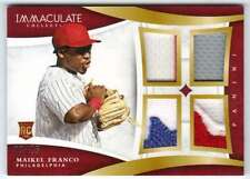 2015 Panini Immaculate Quads Prime Jersey Patch RC /25 Maikel Franco Phillies