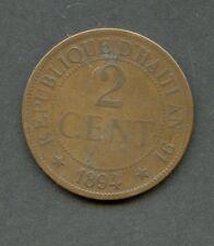 HAITI 1894 TWO CENT COIN   HAVE FUN BIDDING