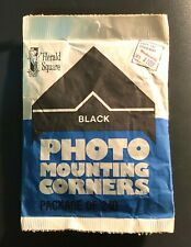 Vintage Package of 240 Herald Square Black Photo Mounting Corners, Woolworth Co.