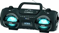 Aeg SR 4359 Bluetooth Ghetto Blaster CD MP3 USB Estéreo boombox negro