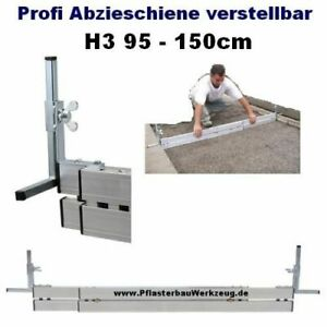 Alu Abziehschiene verstellbar H3 95 bis 150cm Abziehlehre Pflasterarbeiten--