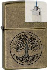 Zippo 29149 tree life antique brass Lighter & Z-PLUS INSERT BUNDLE
