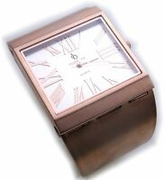 Neu exklusive Damen Uhr rotgold-farben Quarz Spangenuhr Damenuhr rose rosefarben