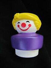 Fisher Price Little People CHUNKY CIRCUS CLOWN in Purple1991 HTF ~ Clean!