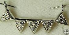 UNIQUE ARTISAN 18K WHITE GOLD .45 CARAT DIAMOND PENDANT