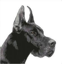 "Black Great Dane Dog Counted Cross Stitch Kit 10.75"" x 11.25"" 27.5cm x 28.5cm"