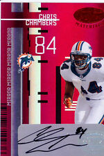 chris chambers auto autograph miami dolphins wisconsin badgers #/25 2005