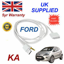 Ford Ka 1529487 3gs 4 4s Iphone Ipod Usb & Aux Cable Blanco