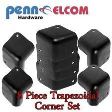 Black Steel Trapezoidal Speaker Cabinet Corners ( 8 off )